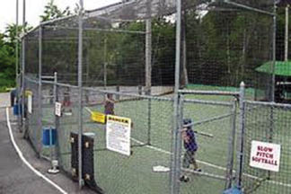 Batting cages for practice near Cedar Pointe