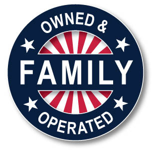 Family owned and operated badge