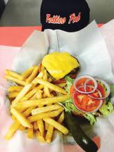 Fatties Pub cheeseburger and fries