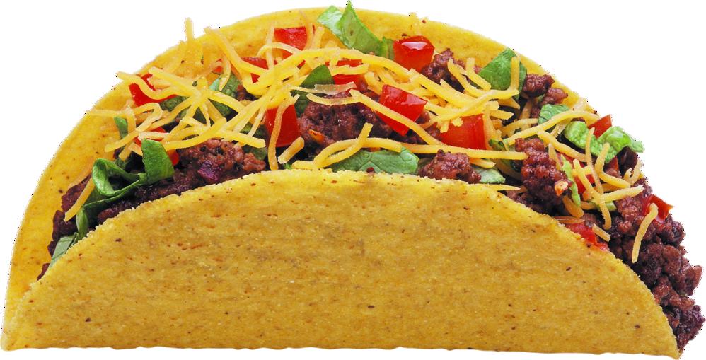 Overstuffed beef hard taco