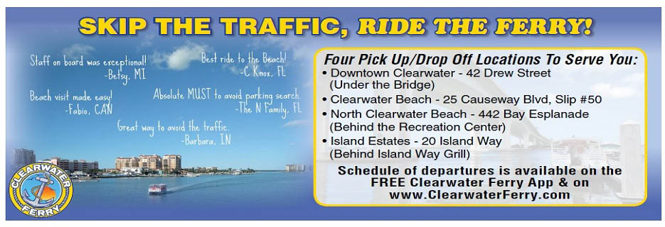 Clearwaterferry.com no traffic   avoid Clearwater beach Traffic with Clearwater Ferry