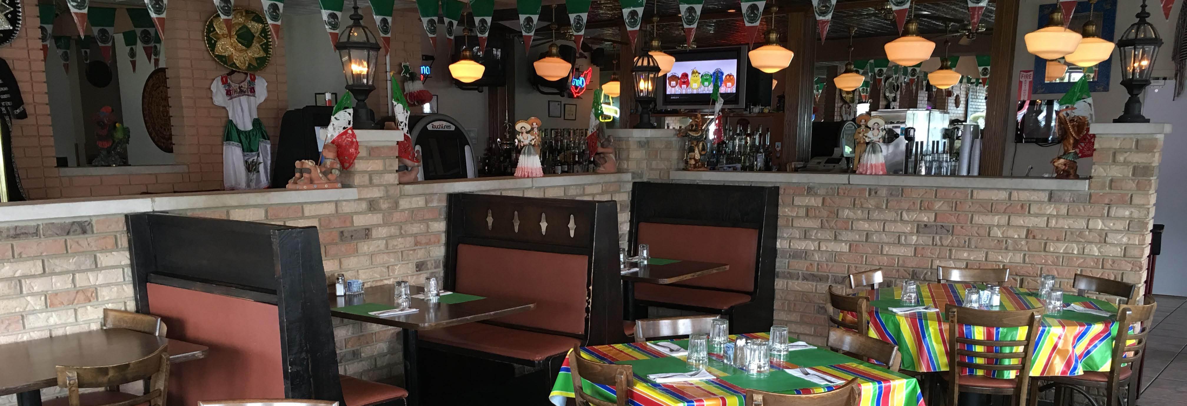 Dining room at Fiesta Azteca Restaurant in Alsip, IL.