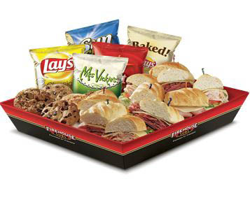 photo of catering meal from Firehouse Subs
