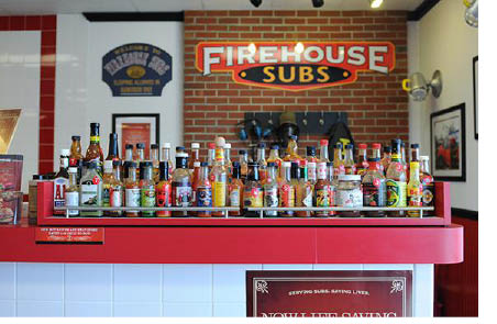 Sauces to accommodate your Firehouse Subs in Florham Park NJ