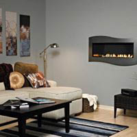 Vented Gas Logs-Vented logs provide a large, realistic looking flame, providing looks over efficiency.