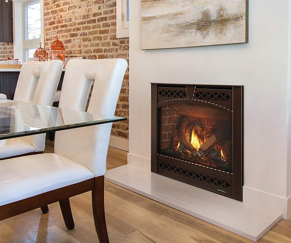 New built-in fireplace