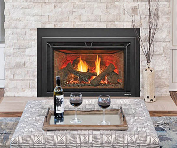 Home fireplace and stone hearth