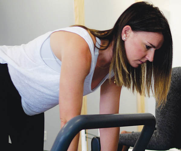 Women's workout session