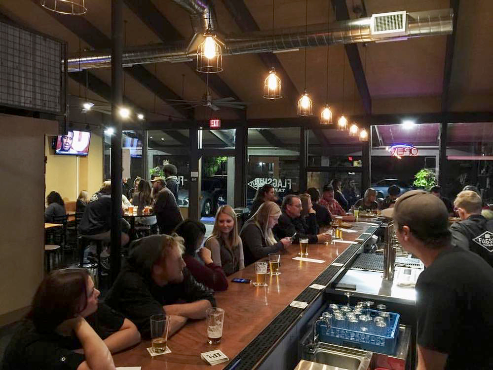 Flagship Taproom Interior in Cotati, CA - have a seat at the bar