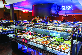 Large selection of sushi at Flaming Grill and Supreme Buffet