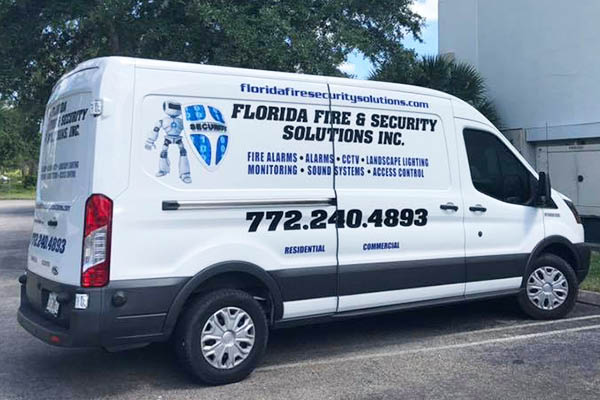 Florida Fire & Security Solutions, Inc. van