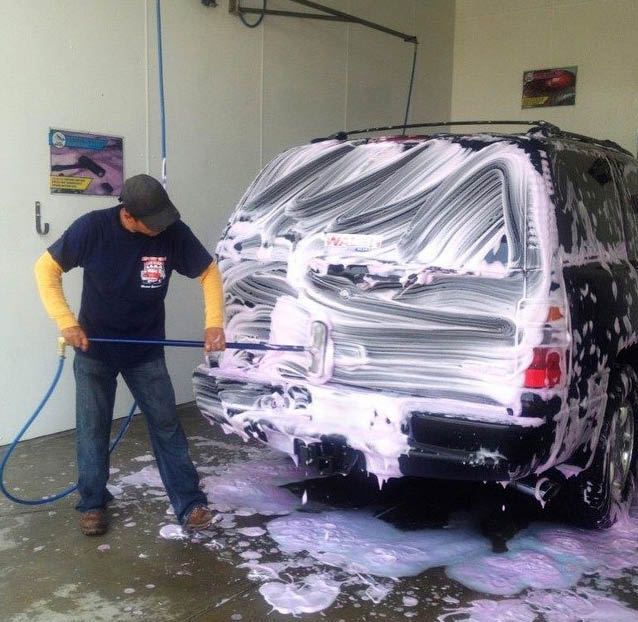 Car wash service at Foam & Wash