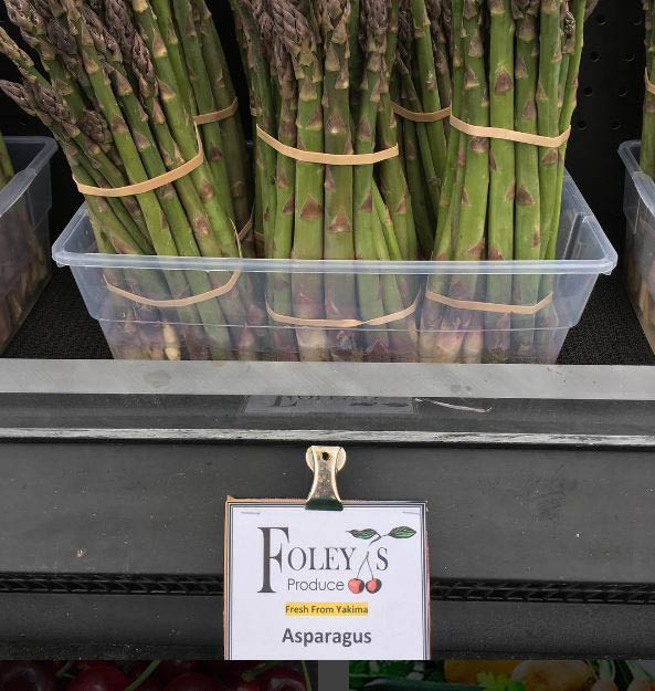 Fresh asparagus from Foley's Produce in Maple Valley, WA