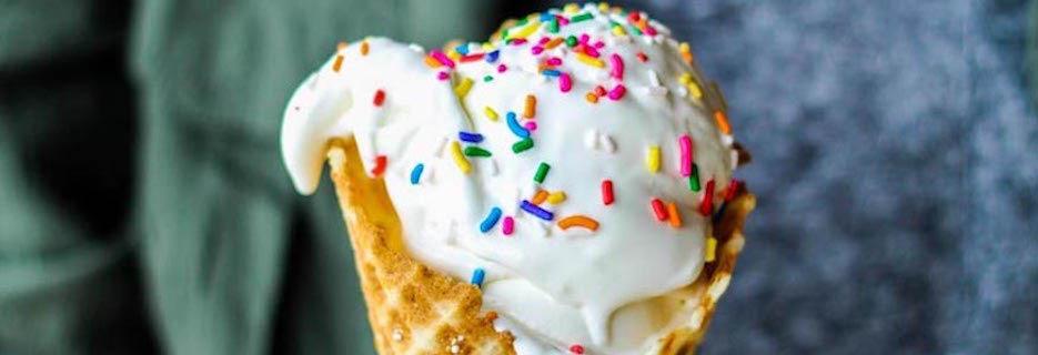 Foo's frozen custard Logo, Custard in a cone