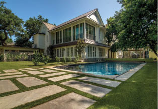 Two story house with pool - ForeverLawn