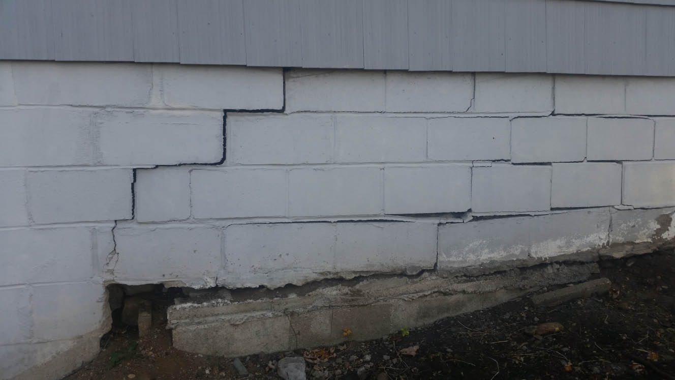 Outside foundation repair in Minnesota