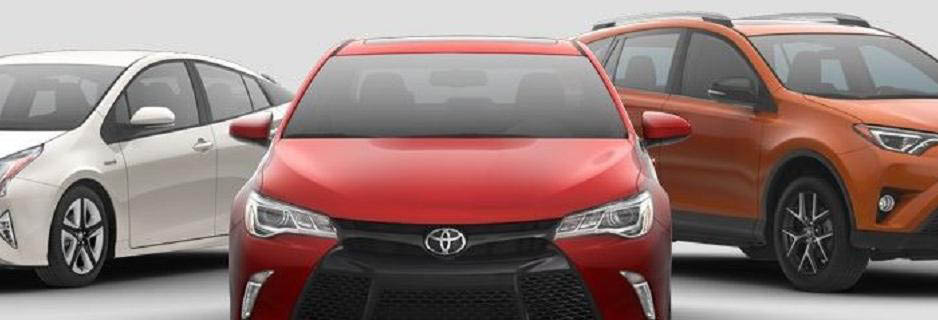 photo of 3 Toyota vehicles from Fox Toyota in Rochester Hills, MI