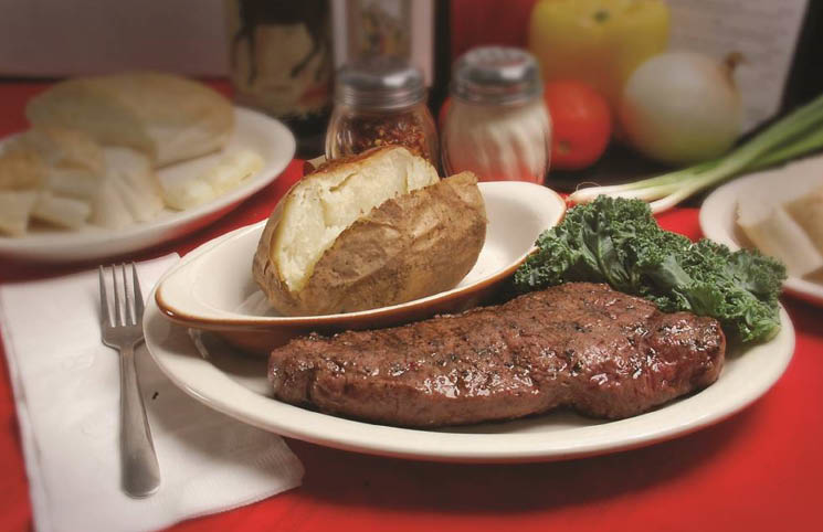 Steak & potato at Frankie's Italian Cuisine