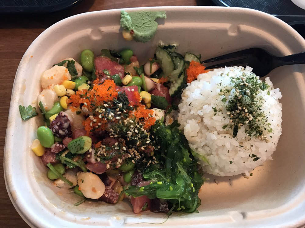 ahi poke nutrition, what to eat poke with wiki poki Fresh Salad Pake bar Peoria, AZ