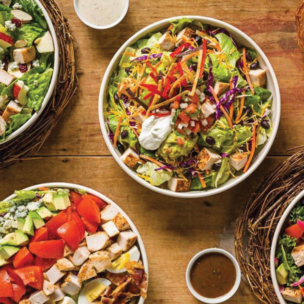 Fresh chopped garden salads