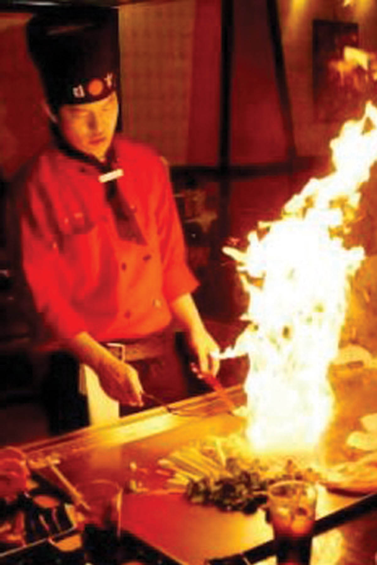 food cooked in front of you; Fuji Japanese Steakhouse edgewater, maryland