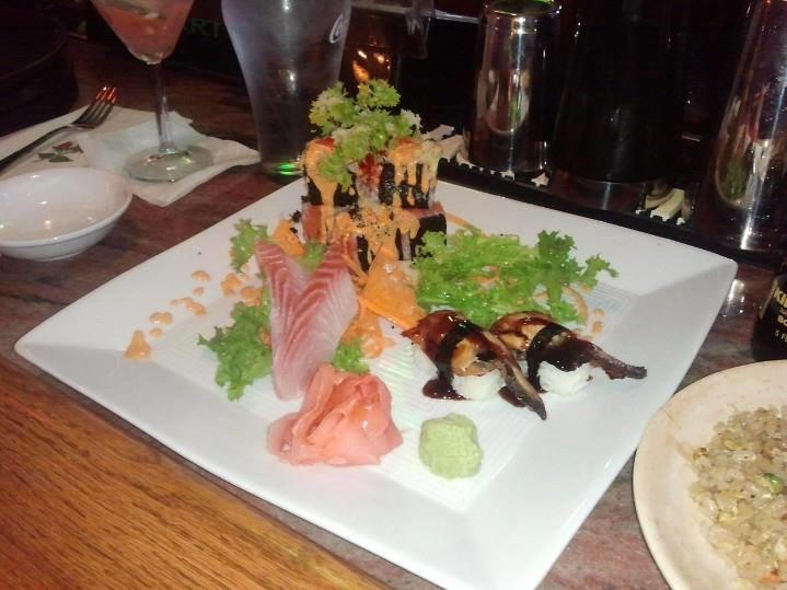 Sushi and sashimi platter near Milroy, PA