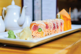 Try one of our fabulous Sushi roll like Surf & Turf, the Alaskan or the Spicy Tuna Roll. All are delicious!