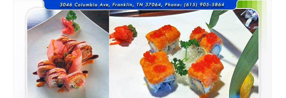 Japanese sushi rolls with beautiful presentation banner