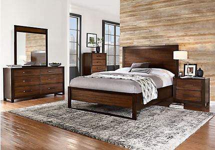 Bedroom furniture from Furniture To Go in Everett, Washington - bed headboard - dresser - end tables - Everett furniture stores near me - furniture coupons near me