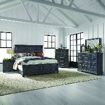 5 pc. Complete Bedroom Set. Queen Panel Bed, Dresser, Mirror, Chest, FREE Nightstand. 2 Choices Of Finishes; Light Or Dark