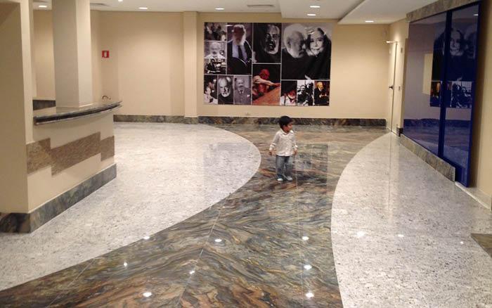 fusion brazil theater marble granite floor