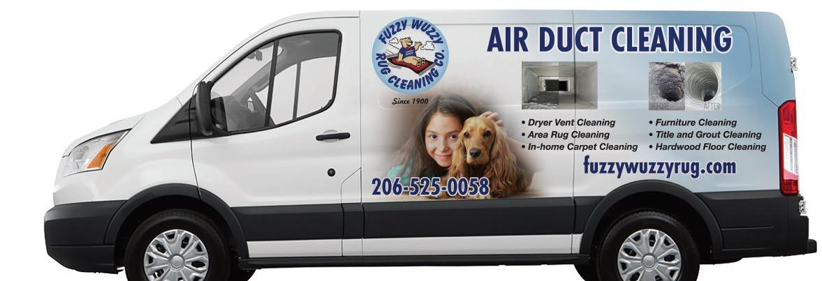 Fuzzy Wuzzy Air Duct Cleaning banner image - Western Washington