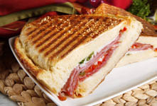 Get a Panini  to go from Great American Bagel Bakery!