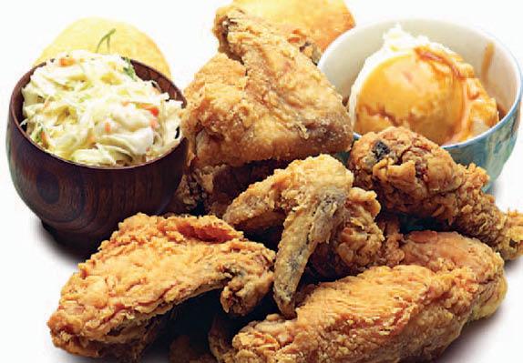 Golden Chicken, fried chicken dinner