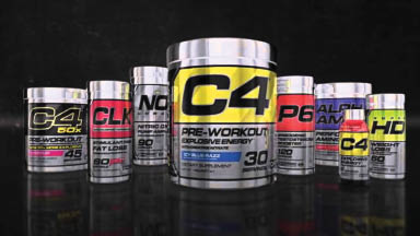 All types and sizes of GNC C4 vitamin products