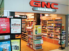 GNC Whitestone shelves are stocked with a full supply of healthful items
