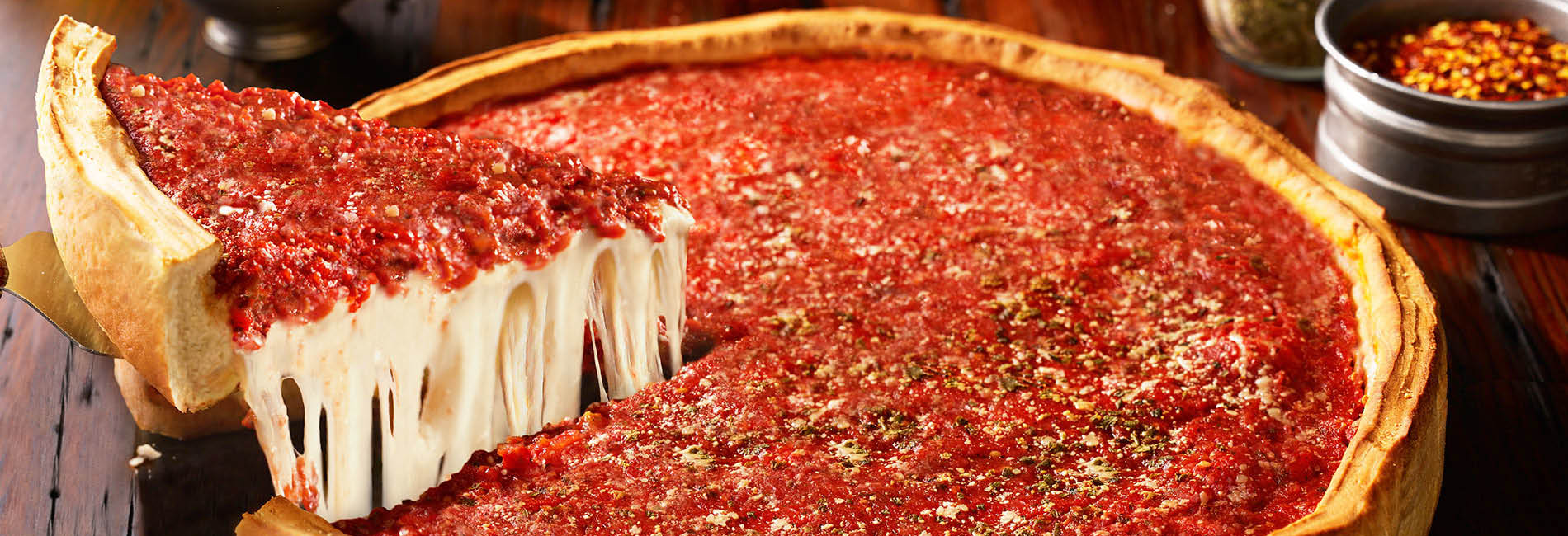 Chicago Stuffed Pizza Thin-crust Salads Sandwiches Classic Italian Meat Vegetables