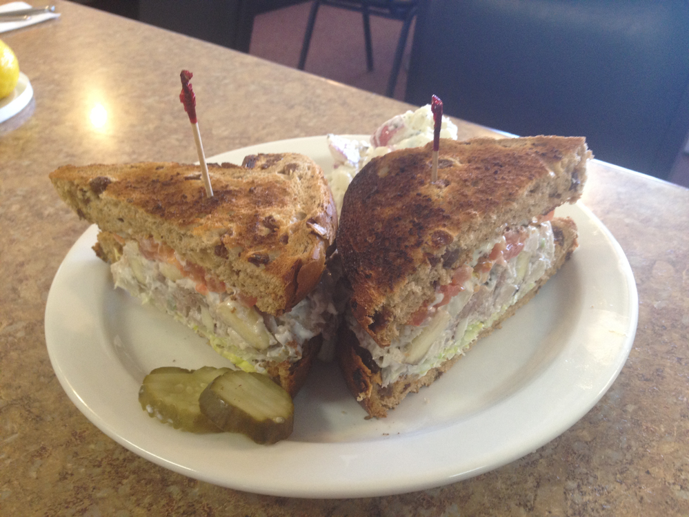 Overstuffed sandwich at Gabby's Kitchen in Chino Valley