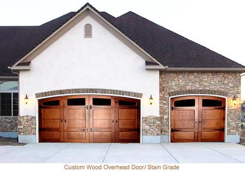 Steel overhead garage door and genie garage door opener