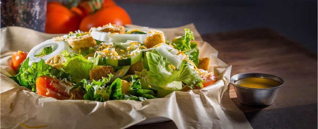 fresh salad wayback burgers, fresh food wayback burgers,