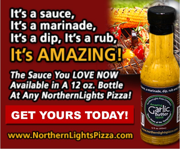 Great Garlic Butter In A Bottle At Northern Lights Pizza South Des Moines Iowa