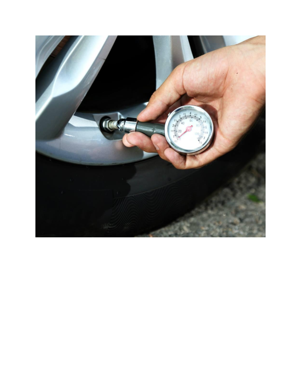 Tire pressure check at Geller's Automotive in Byram NJ