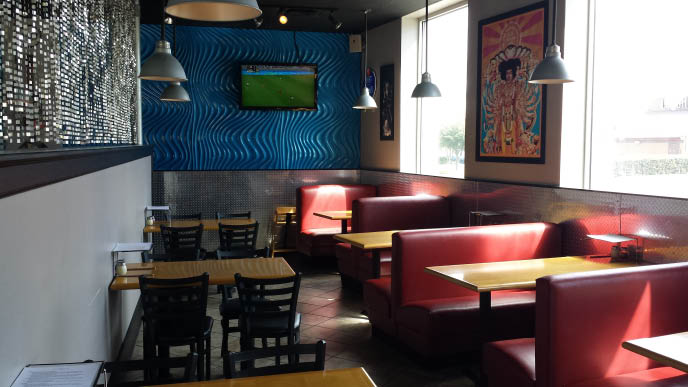 Interior of Blue Rock Pizza & Tap