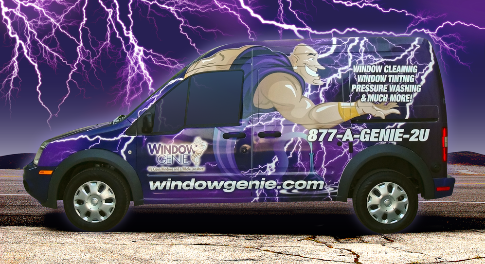 indow genie van window cleaners that come to you