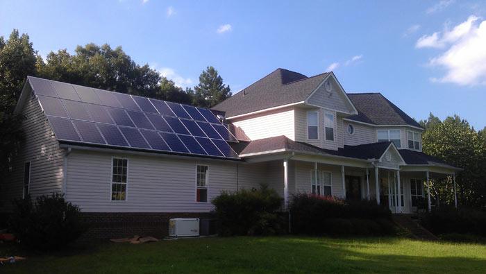 Solar panels make homes more energy efficient