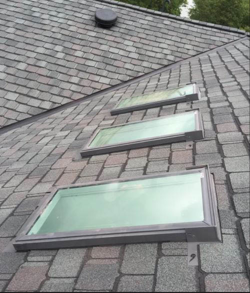Skylights, roofing, including shingle, cedar shake, slate, metal, and flat roofs along with gutters.