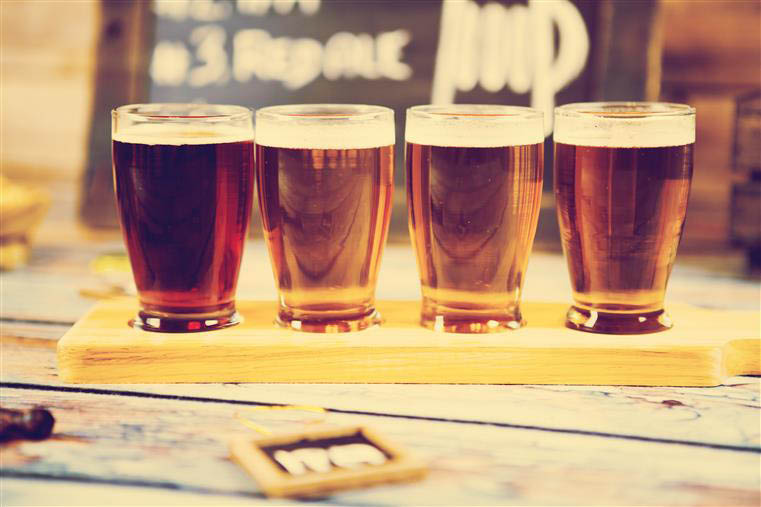 Flight of craft beer to help you find your favorites