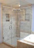 Beautiful glass shower walls and glass shower enclosures from Glassman, Inc in Sumner, Washington