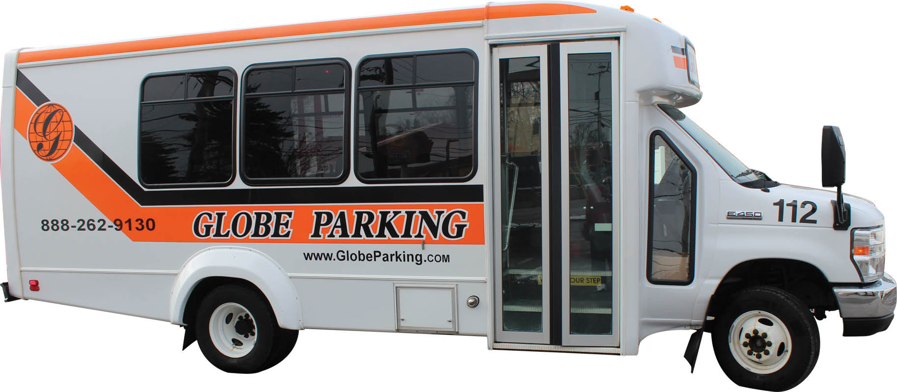 Photo of convenient airport parking shuttles from Globe Parking in Pittsburgh PA