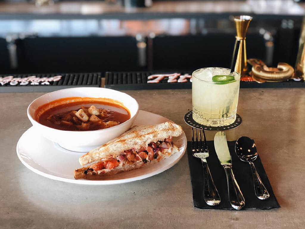 Soup and sandwich from Glow Martini Lounge in Bonney Lake, WA - Bonney Lake dining coupons near me - Bonney Lake restaurant coupons near me